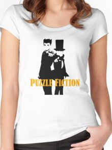 Puzzle Fiction Women's Fitted Scoop T-Shirt