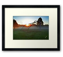 Goal In The Morning Mist Framed Print