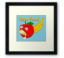 Raw Foods Food Fight Framed Print