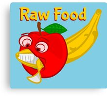 Raw Foods Food Fight Canvas Print