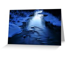 Icy winter blue river Greeting Card
