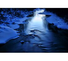Icy winter blue river Photographic Print