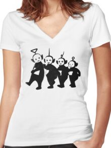 Teletubbies Women's Fitted V-Neck T-Shirt
