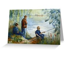 The Fishing Lesson Greeting Card