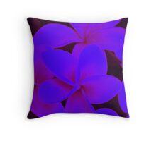Pretty Purple Petals Throw Pillow