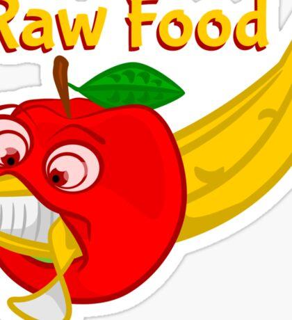Raw Foods Food Fight Sticker