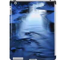 Icy winter blue river iPad Case/Skin