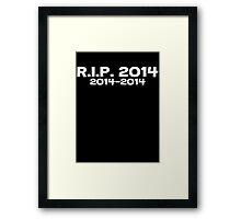 Rip 2014 2014-2014 Framed Print