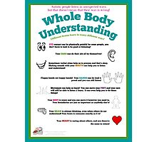 Whole Body Understanding Poster (Autism) Photographic Print