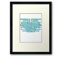 Starkle Starkle LittleTwink Framed Print