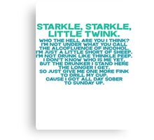 Starkle Starkle LittleTwink Canvas Print