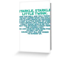 Starkle Starkle LittleTwink Greeting Card