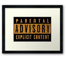 Explicit Content gold Framed Print
