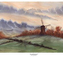 Sunset Windmill by Tim Emmerson