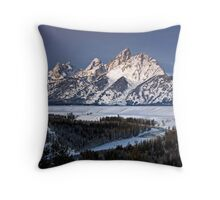 Snake River Overlook, Jackson Hole, Wyoming Throw Pillow