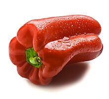 Wet Capsicum Photographic Print