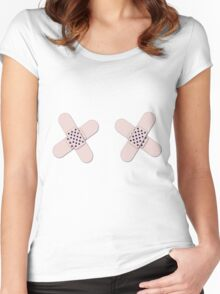 Breast Cancer Survivor Bandages Women's Fitted Scoop T-Shirt