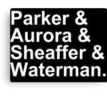 Fountain Pens - Parker, Aurora, Shaeffer, Waterman Canvas Print
