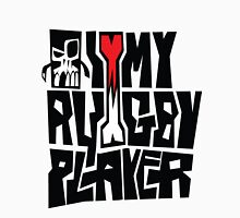 i heart my rugby player Womens Fitted T-Shirt