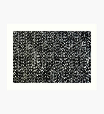 Bubble Wrap Packing Material Texture Art Print