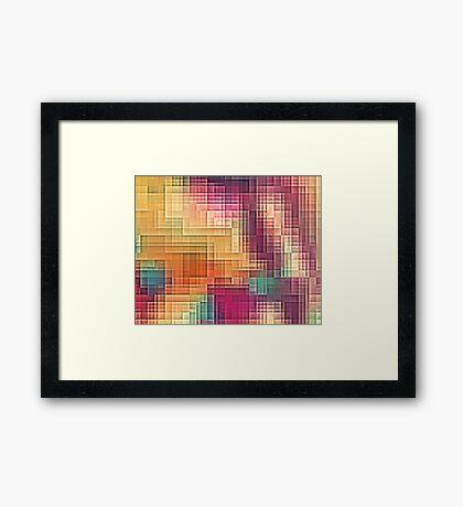 Colored Tetris Framed Print