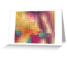 Colored Tetris Greeting Card