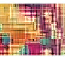 Colored Tetris Photographic Print