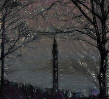 Wainhouse Tower - Chalk Effect by Glen Allen