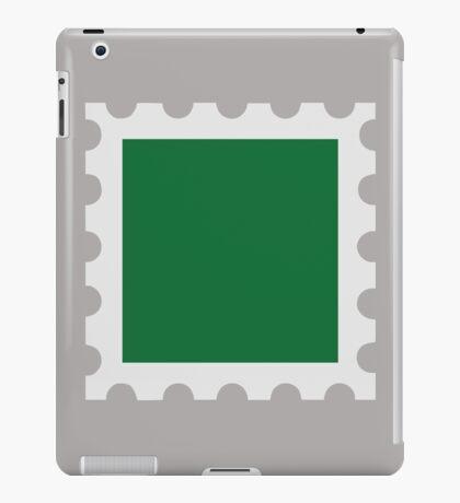 Green stamp iPad Case/Skin