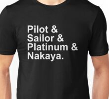 Fountain Pens - Japanese Brands - Pilot, Sailor, Platinum, Nakaya Unisex T-Shirt