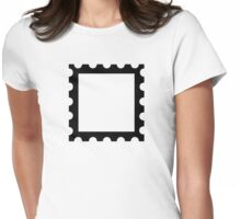 Post stamp Womens Fitted T-Shirt
