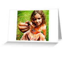 Grace and the snail Greeting Card