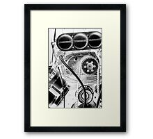 Top Fuel in White and Black (Inverted) Framed Print