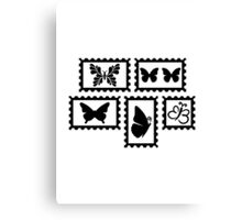 Butterfly stamps Canvas Print