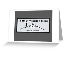 Mont Ventoux Mountain Road Sign Tour de France Greeting Card