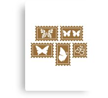 Butterfly stamp collection Canvas Print