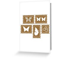 Butterfly stamp collection Greeting Card