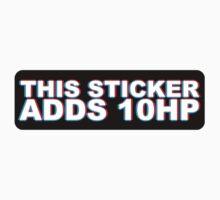 This Sticker Adds 10 HP 3D by MikeKunak