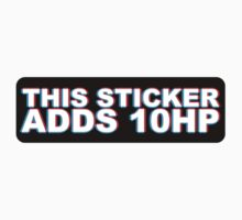 This Sticker Adds 10 HP 3D by MikeKunak