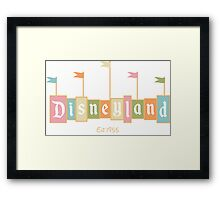 Disneyland California Logo  Framed Print