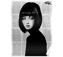 girl in black Poster