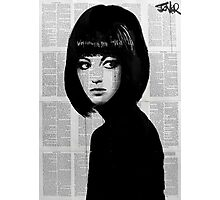 girl in black Photographic Print