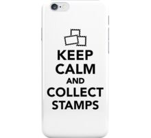 Keep calm and collect stamps iPhone Case/Skin