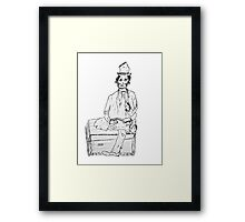 Clown doll Framed Print