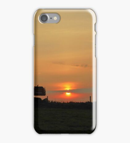 Diggers At Sunset iPhone Case/Skin