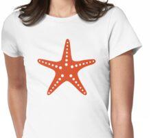 Orange starfish Womens Fitted T-Shirt