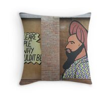 Social Commentry Throw Pillow
