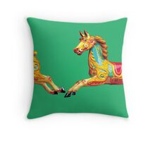 H is for Horse. Throw Pillow
