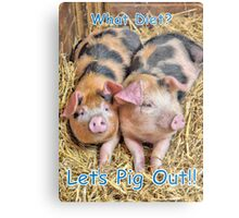 Let's Pig Out!! Metal Print