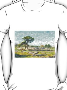 Paestum: archaeological site with trees T-Shirt